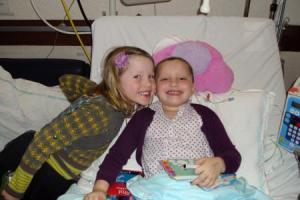 Lotte op bezoek bij Harte in het ziekenhuis (15 december 2012)